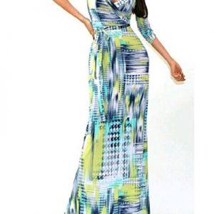 bd2019ee551 Fashion Color Block Maxi Dress