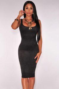 inasari-black-faux-suede-sleeveless-midi-dress-s2ca017-2-1