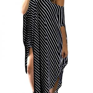 inasari-black-skew-neck-off-shoulder-striped-asymmetric-hem-dress-s2ca030-2-1