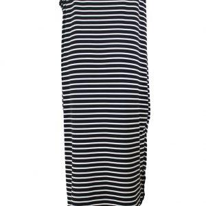 inasari-black-skew-neck-off-shoulder-striped-asymmetric-hem-dress-s2ca030-2-3