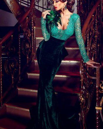 inasari-elegant-velvet-mermaid-skirt-formal-dress-s2ed043-1