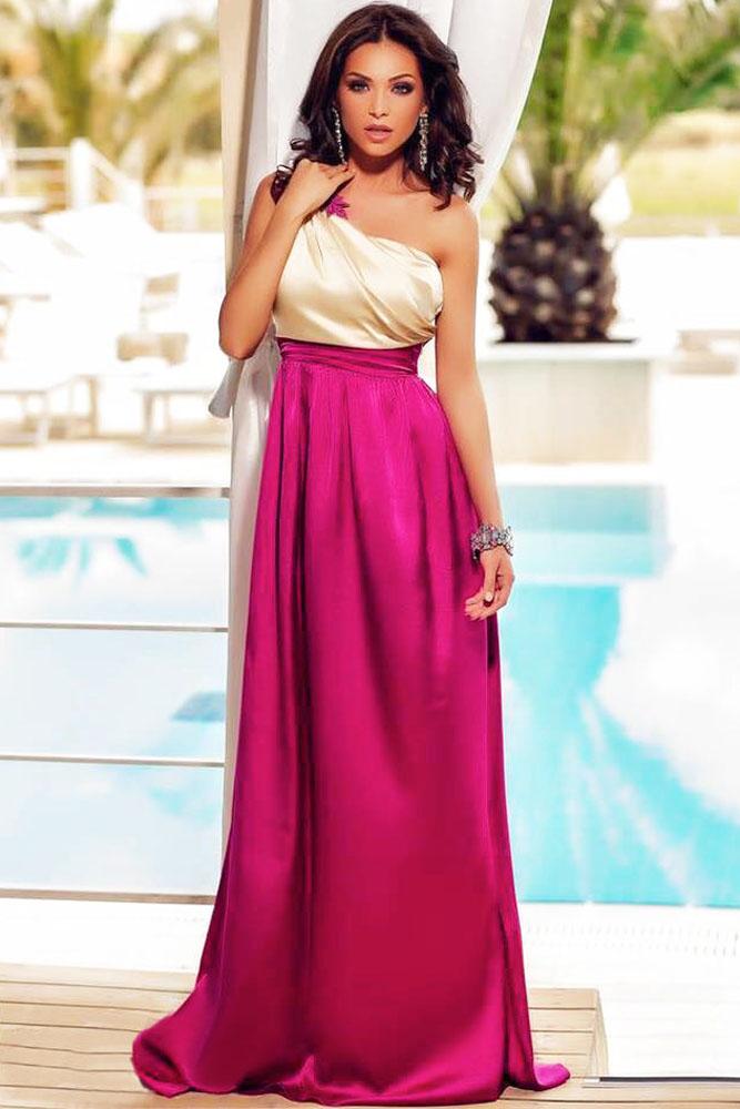 Gorgeous One Shoulder Long Dress – inasari