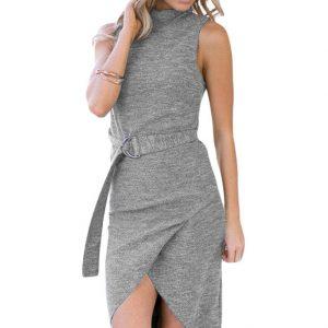 inasari-heather-grey-high-neck-sleeveless-slinky-dress-with-belt-s2ca029-11-1