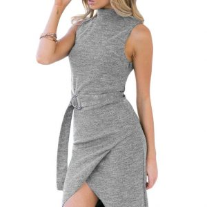inasari-heather-grey-high-neck-sleeveless-slinky-dress-with-belt-s2ca029-11-2