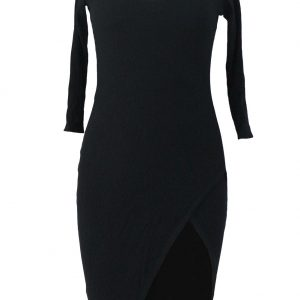 inasari-pullover-scoop-neck-34-sleeve-side-slit-midi-dress-s2ca028-2-2