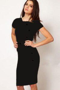 inasari Cap Sleeve Midi Dress s2od020-2 -1