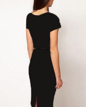 inasari Cap Sleeve Midi Dress s2od020-2 -2