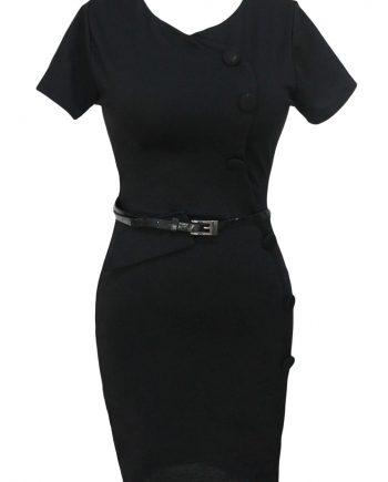 inasari Cap Sleeve Midi Dress s2od020-2 -3