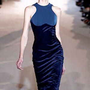 ed132b9bca5 Elegant Blue Velvet Bodycon Dress