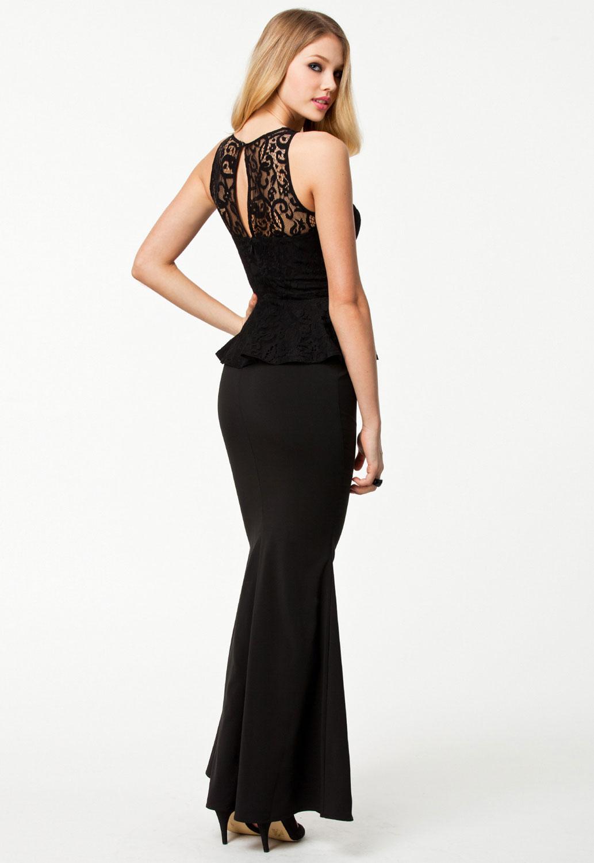 Elegant Peplum Evening Gown – inasari