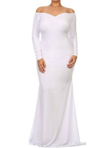 inasari woman online store – Off-shoulder V Neck Plus Size Long Dress S2PSD014-1 -1