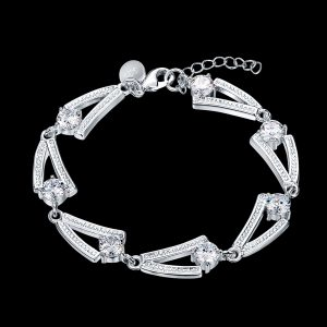 inasari women online store – genuine silver plated bracelet KRSPBR044 -1