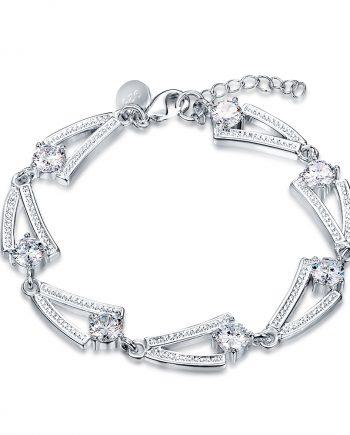 inasari women online store – genuine silver plated bracelet KRSPBR044 -2