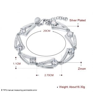 inasari women online store – genuine silver plated bracelet KRSPBR044 -3