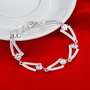 inasari women online store – genuine silver plated bracelet KRSPBR044 -4