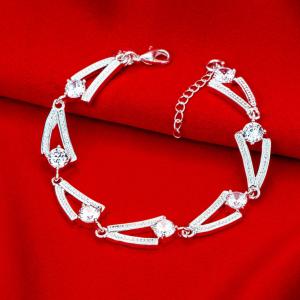 inasari women online store – genuine silver plated bracelet KRSPBR044 -6