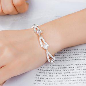 inasari women online store – genuine silver plated bracelet KRSPBR044 -7