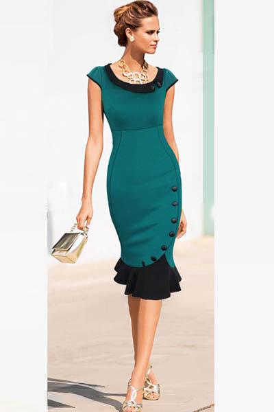 Elegant Office Dress Inasari