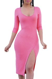 inasari-pullover-scoop-neck-34-sleeve-side-slit-midi-dress-s2ca028-10-1