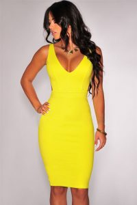 inasari-sexy-deep-v-neck-yellow-bodycon-dress-s2cl038-2-3