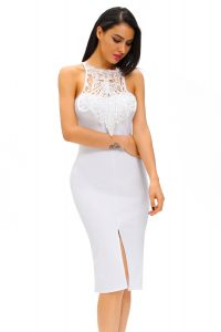 inasari Elegant Front Slit Dress With Embroidery s2od011-1 -1