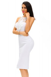 inasari Elegant Front Slit Dress With Embroidery s2od011-1 -2