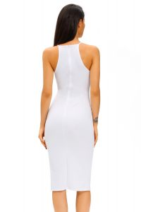 inasari Elegant Front Slit Dress With Embroidery s2od011-1 -3