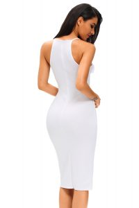 inasari Elegant Front Slit Dress With Embroidery s2od011-1 -4