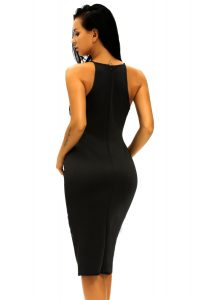 inasari Elegant Front Slit Dress With Embroidery s2od011-2 -3