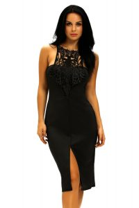 inasari Elegant Front Slit Dress With Embroidery s2od011-2 -4