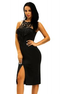 inasari Elegant Front Slit Dress With Embroidery s2od011-2 -5