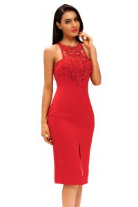 inasari Elegant Front Slit Dress With Embroidery s2od011-3 -2