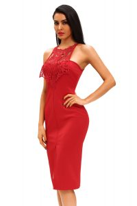 inasari Elegant Front Slit Dress With Embroidery s2od011-3 -3