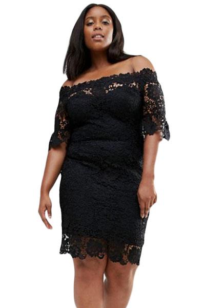 Lace Sheath Plus Size Dresses